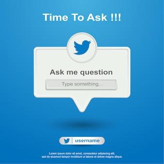 Pergunte-me perguntas de mídia social no twetter