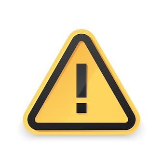 Perigo aviso atenção sinal com símbolo de exclamação