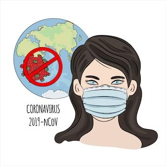Perigo epidêmico de coronavirus