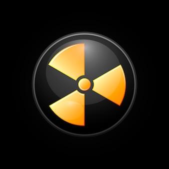Perigo, sinal de aviso de radiação radioativa