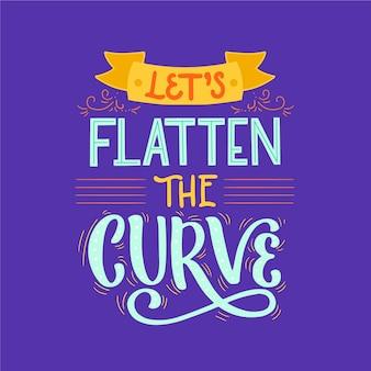 Permite achatar a curva