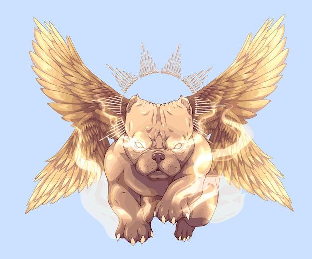 Perro alado perro americano valentão pitbull volador