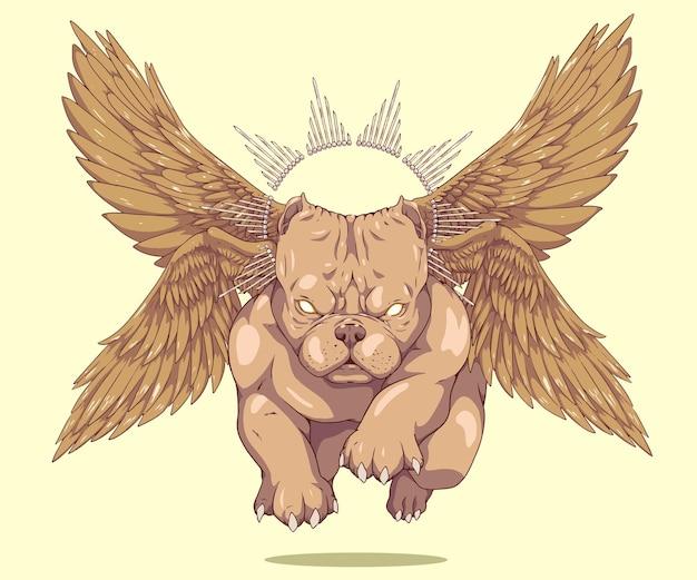 Perro americano volador valentão pitbull alado
