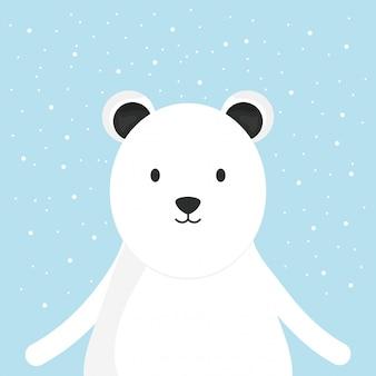Personagem adorável polar urso fofo