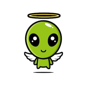 Personagem alienígena fofo é um anjo