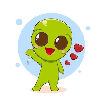 Personagem alienígena fofo