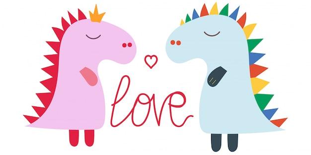 Personagem amor dinossauros