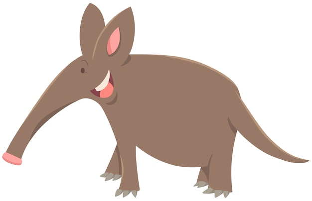 Personagem animal de desenhos animados aardvark