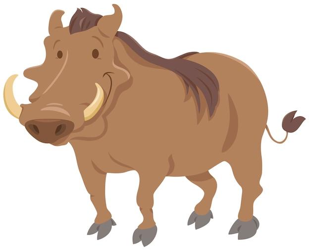 Personagem animal de warthog dos desenhos animados