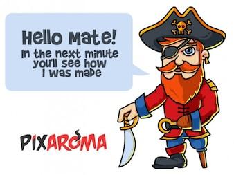 Personagem capitão pirata