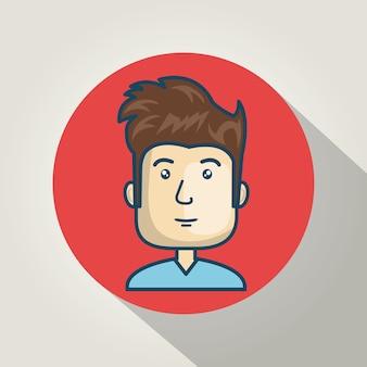 Personagem cara avatar internet