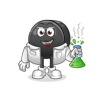 Personagem cientista do disco de hóquei