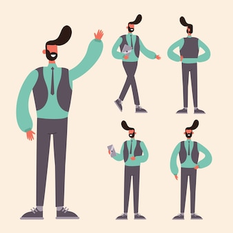 Personagem coloca ilustração