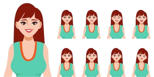 Personagem com diferentes expressões