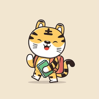 Personagem cute animal tiger