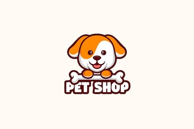 Personagem da mascote do logotipo da loja de animais