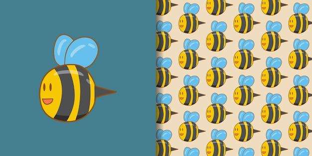 Personagem de abelha fofa