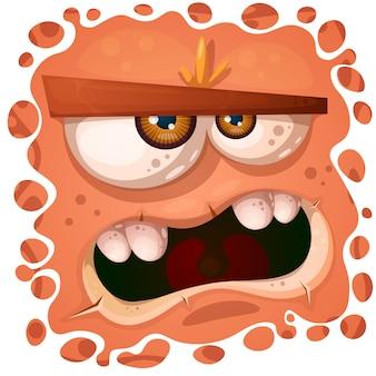 Personagem de abóbora louco engraçado, fofo. ilustração de halloween.