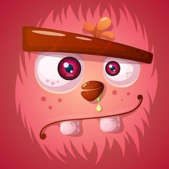 Personagem de abóbora louco engraçado, fofo. ilustração de halloween