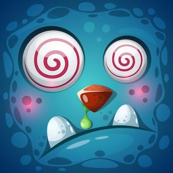 Personagem de abóbora louco engraçado, fofo