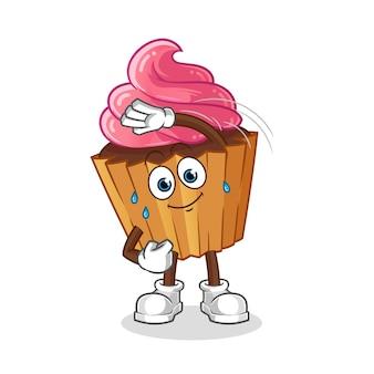 Personagem de alongamento de cup cake