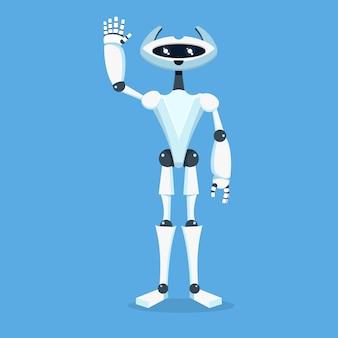 Personagem de assistente de robô