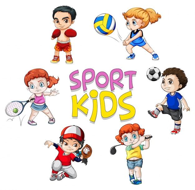 Personagem de atleta de esporte em fundo branco