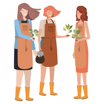 Personagem de avatar de jardineiro de mulheres