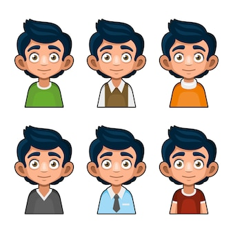 Personagem de avatar de jovem bonito.
