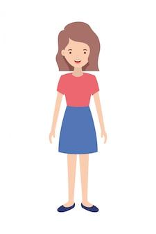 Personagem de avatar jovem