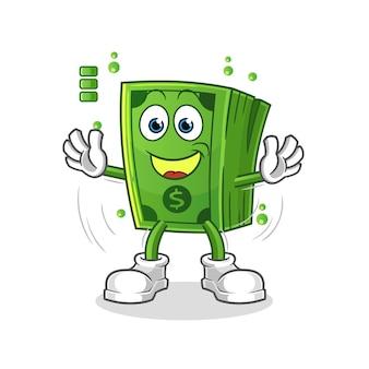 Personagem de bateria cheia de pipoca. mascote dos desenhos animados