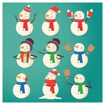 Personagem de boneco de neve de chirstmas