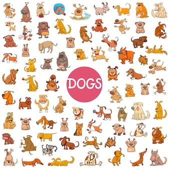 Personagem de cachorro de desenho animado grande conjunto