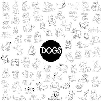 Personagem de cães grande conjunto