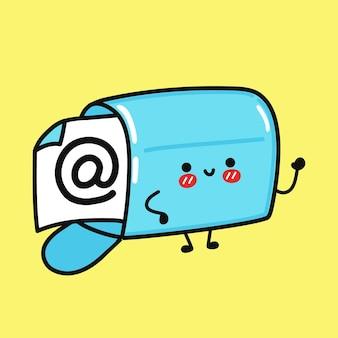 Personagem de caixa de correio fofa e engraçada