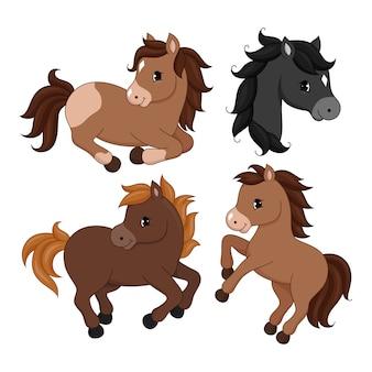 Personagem de cavalo adorável dos desenhos animados.
