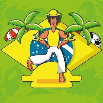 Personagem de dançarina brasileira masculina