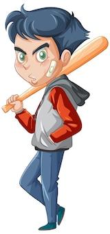 Personagem de desenho animado adolescente de gângster
