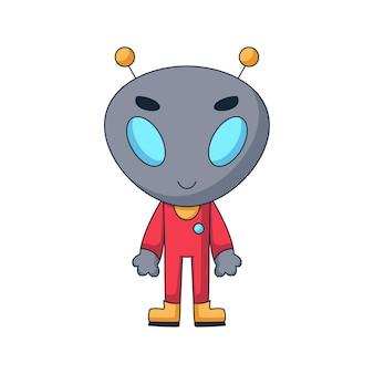 Personagem de desenho animado alienígena fofo