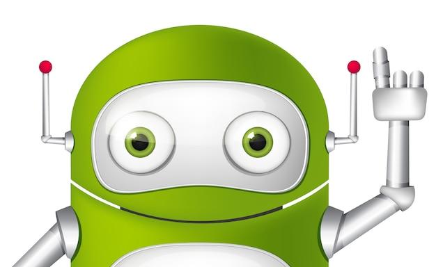 Personagem de desenho animado android