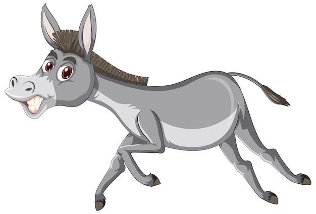 Personagem de desenho animado animal burro