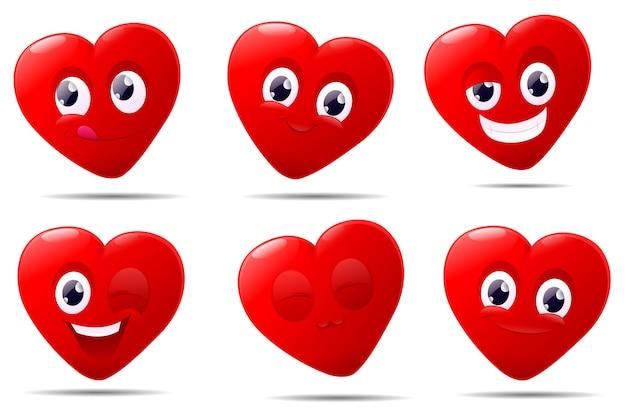 Personagem de desenho animado com coração fofo dia dos namorados