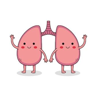Personagem de desenho animado cute lung
