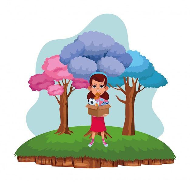 Personagem de desenho animado de avatar de criança