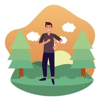 Personagem de desenho animado de avatar de homem