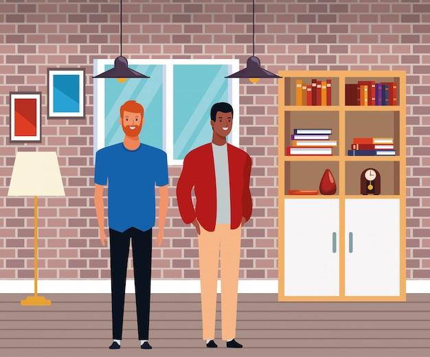 Personagem de desenho animado de avatar de homens