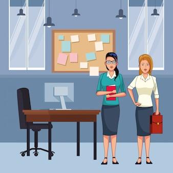 Personagem de desenho animado de avatar de mulheres de negócios