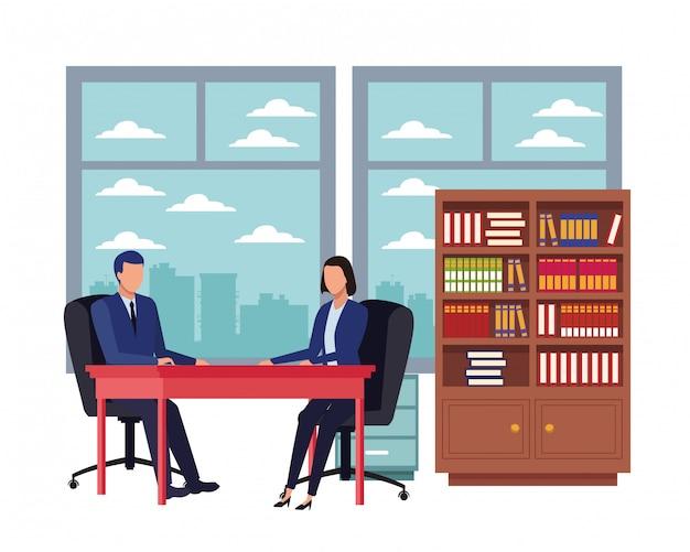 Personagem de desenho animado de avatares de pessoas de negócios