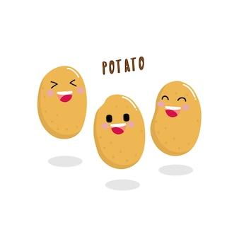 Personagem de desenho animado de batata bonito