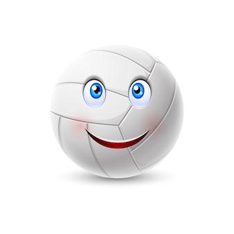 Personagem de desenho animado de bola de vôlei